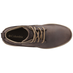 Columbia Davenport Chukka Shoes Men WP Leather cordovan / prairie sand